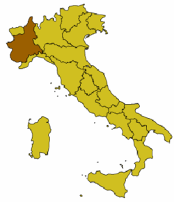 Location of San Damiano d'Asti