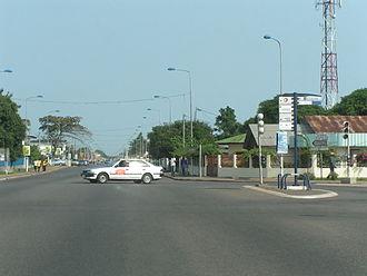 Port-Gentil - A street in Port-Gentil