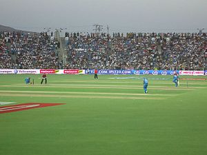 Pune Warriors India - Pune Warriors India in action against Delhi Daredevils at the Subrata Roy Sahara Stadium