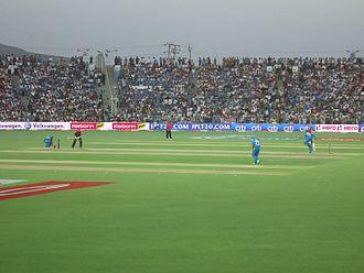 Pune Warriors India - Pune Warriors India in action against Delhi Daredevils at the Subrata Roy Sahara Stadium
