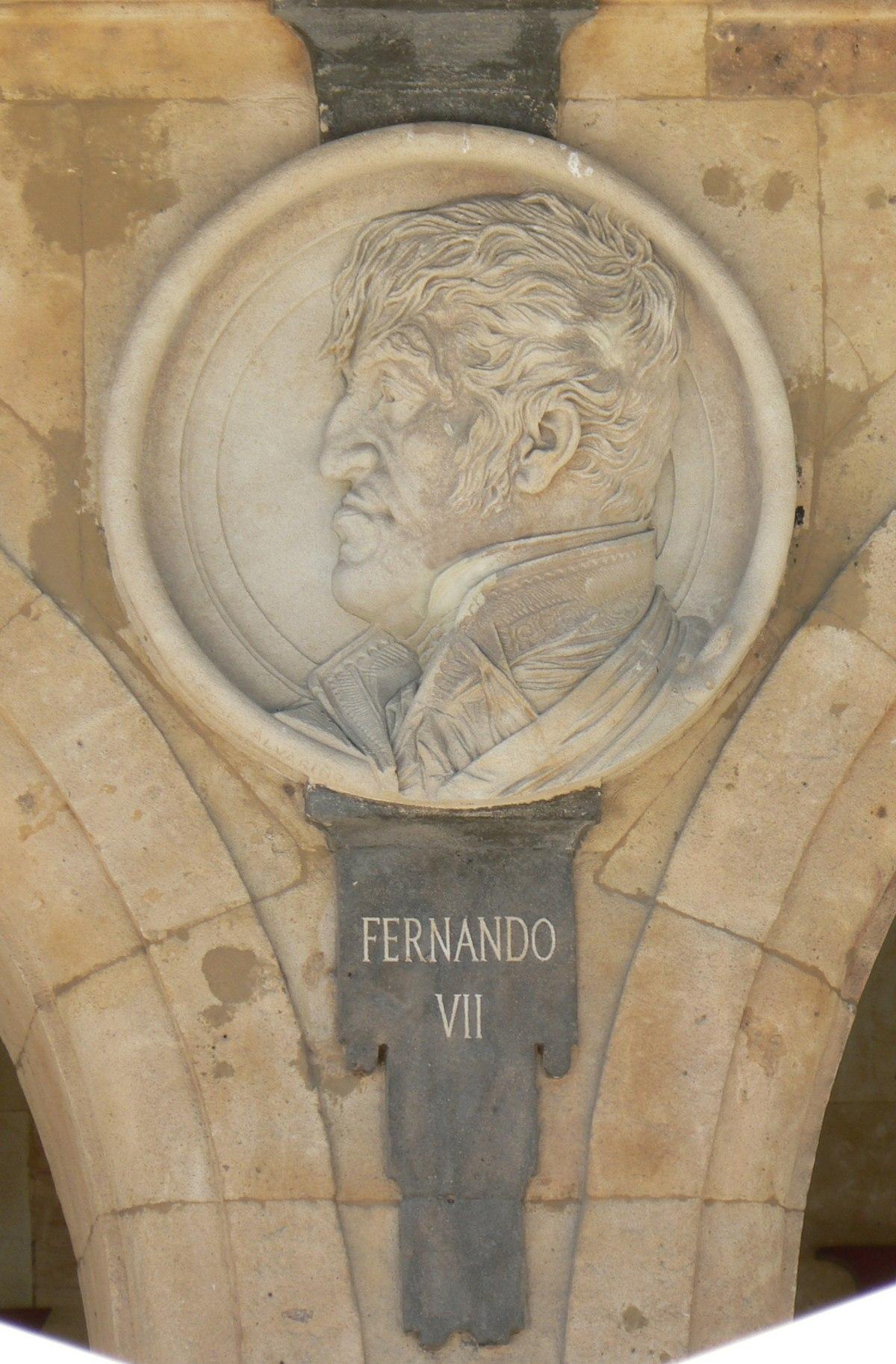 Pabellón Consistorial medallón 22 Fernando VII.JPG