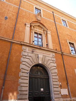 Palazzo Serristori, Rome - The main door of the palace