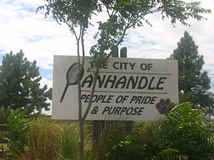Panhandle, Texas - Welcome sign in Panhandle