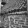 Pannendak, bestaande uit holle en bolle dakpannen, tijdens restauratiewerkzaamheden - Bornwird - 20329552 - RCE.jpg