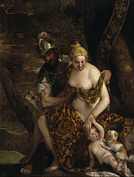 Paolo Veronese: Mars and Venus with Cupid and a Dog