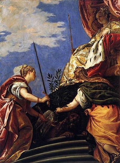 Paolo Veronese - Venetia between Justitia and Pax - WGA24923.jpg