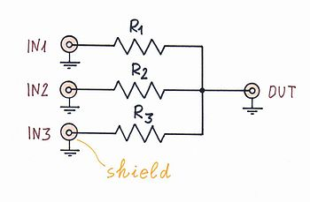 Circuit Idea/Parallel Voltage Summer - Wikibooks, open books for an on