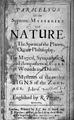 Paracelsus, Of the supreme mysteries of nature. Wellcome L0030482.jpg