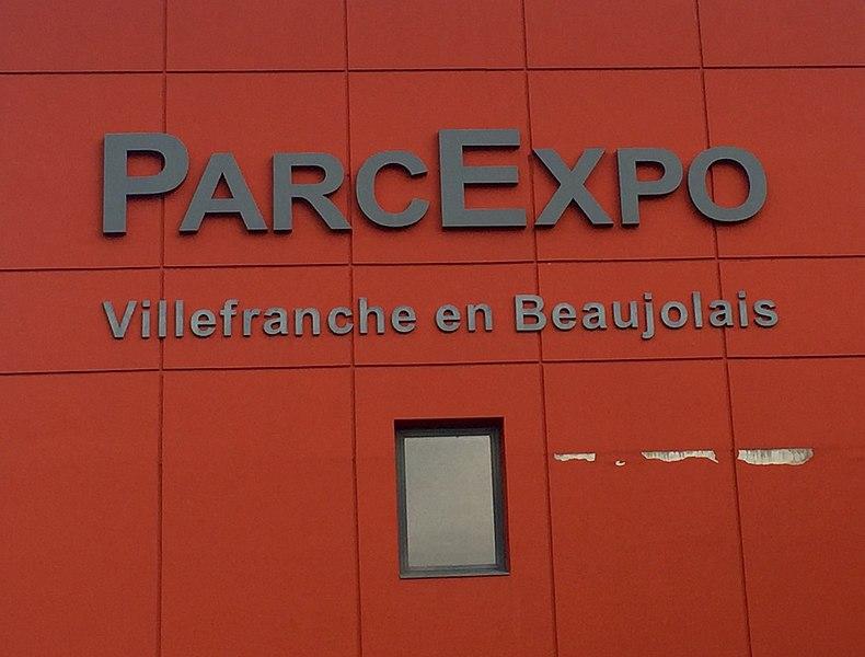 ParcExpo (inscription) à Villefranche-sur-Saône le 13 décembre 2015. ParcExpo accueille alors le congrès annuel de la FSCF.