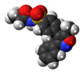 Parecoxib molecule spacefill.png