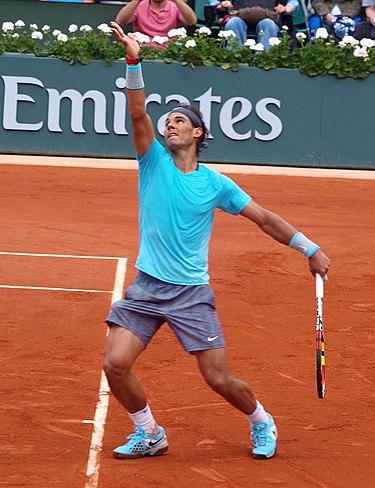 Nadal en el Torneo de Roland Garros 2014.