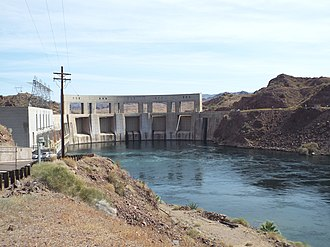 Parker Dam - Image: Parker Parker Dam as viewed from California