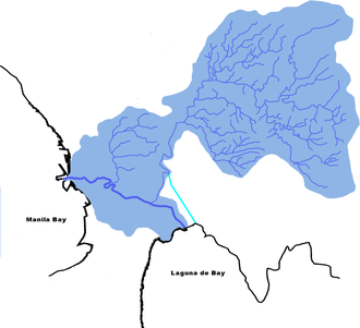 Marikina River - Image: Pasig marikina river drainagebasin