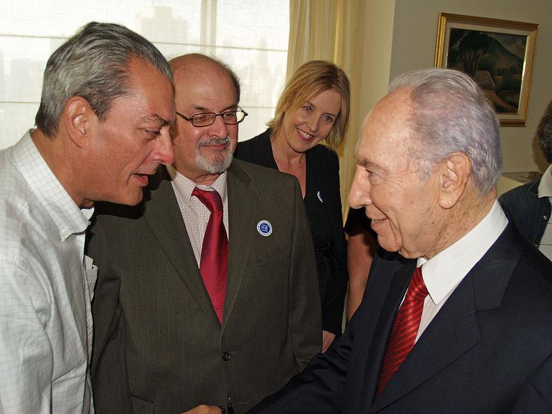File:Paul Auster, Salman Rushdie and Shimon Peres.jpg