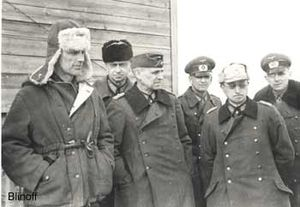 Timeline of World War II (1943) - Field Marshal Paulus and his staff surrender in Stalingrad