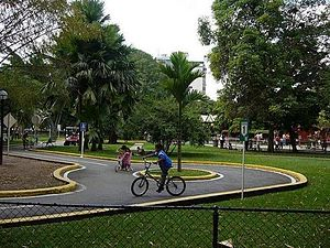 Valencia, Carabobo - Children at the Fernando Peñalver Park learn traffic rules