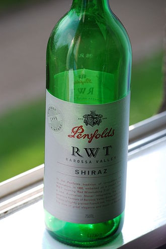Barossa Valley (wine) - Many of Australia's most well known wines, such as this Penfolds Shiraz, come from the Barossa Valley.