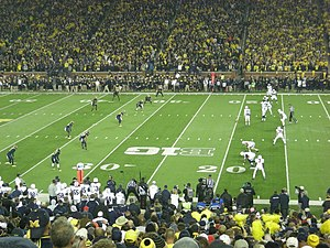 Onside kick - Penn State lined up for an onside kick.