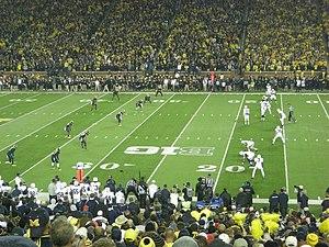 Onside kick - Penn State lined up for an onside kick.