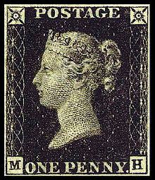 postage stamps-  the world's first postage stamp.
