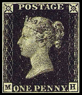 Penny Black worlds first adhesive postage stamp