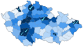 Percentage of photos of protected areas in the Czech Republic 2012-06-18.png
