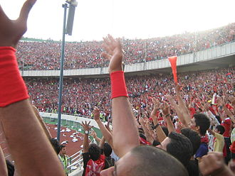 Persian Gulf Pro League - Persepolis fans during the dramatic league final against Sepahan in 2008