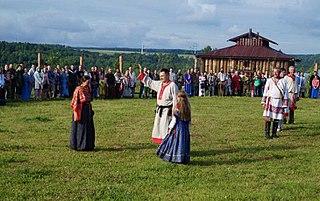 Modern religious movement based on pre-Christian Slavic beliefs