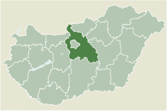 Százhalombatta - Location of Pest county in Hungary