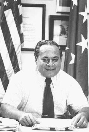 Tutuila -  Peter Tali Coleman, the first Samoan-born governor of Tutuila and American Samoa