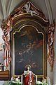 Pfarrkirche Weißenalbern - Seitenaltar Gemälde hl. Johannes Nepomuk.jpg