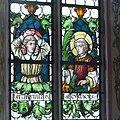 Pfarrkirche Weitnau Nothelferfenster Pantaleon Cyriacus.jpg