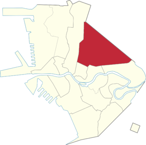 Legislative districts of Manila - Manila's current fourth district highlighted.
