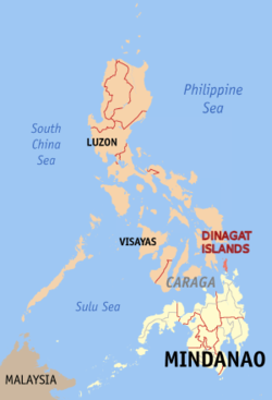 Map of the Dinagat Islands