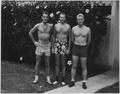 Photograph of Gerald R. Ford, Jr., and Two Unidentified Men in Bathing Suits - NARA - 187031.tif