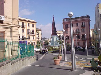 Art Stations of the Naples Metro - A refurbished piazza Scipione Ammirato, at Materdei, after the excavation works.
