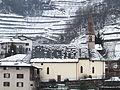 Piazzo di Segonzano - chiesa dell'Immacolata - Lato - inverno.JPG