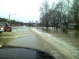Early Spring 2008 Midwest floods - Flooding in Piedmont, Missouri