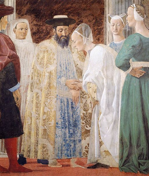 Piero della Francesca - 2b. Meeting between the Queen of Sheba and King Solomon - WGA17498
