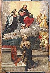 Le Christ et la Vierge apparaissant à saint François d'Assise