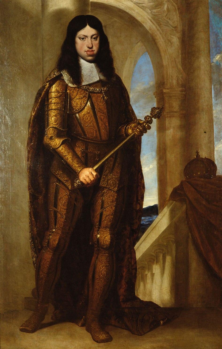 Pietro Liberi or Guido Cagnacci (attr.) - Emperor Leopold I in coronation armor