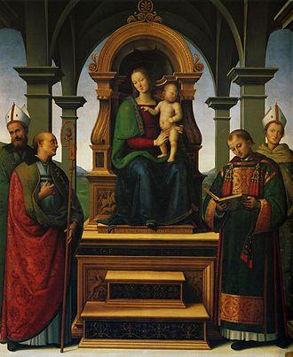Decemviri Altarpiece - Image: Pietro Perugino cat 41b