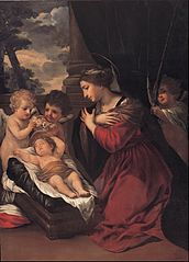 Madonna with the Child and angels