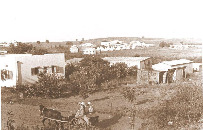 """קבוצת """"רמת השומרון"""", ליד פרדס חנה 1935"""