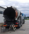 Pipe cleaning truck open for repair 2.jpg