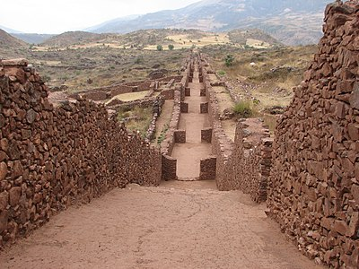 Lost Ancient High Technology In Peru: Highland City Of Wari 400px-Piquillacta_Archaeological_site_-_street