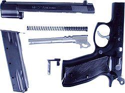 Pistole cz75 hauptbaugruppen