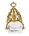 Pitschaft av guld med slät bergskristall, 1700-tal - Hallwylska museet - 110333.tif
