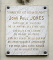Plaque John Paul Jones, 19 rue de Tournon, Paris 6.jpg