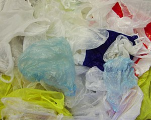 Thin plastic shopping bags